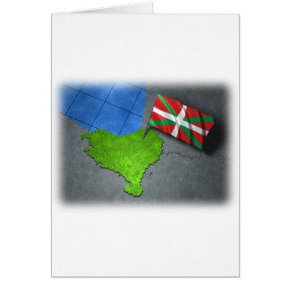 Pays Basque avec son propre drapeau Carte De Vœux