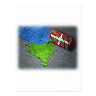 Pays Basque avec son propre drapeau Carte Postale