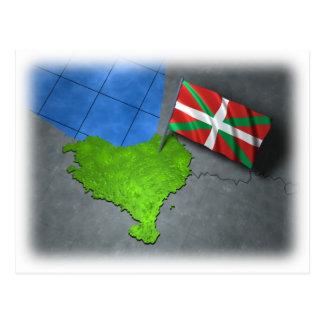 Pays Basque avec son propre drapeau Cartes Postales