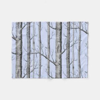 Pays, beaux arbres d'Aspen sur le bleu