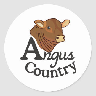 Pays d'Angus Sticker Rond
