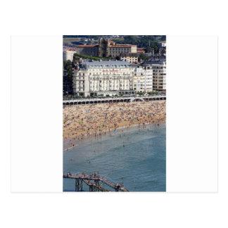 Pays de basque de plage de San Sebastian d'été Carte Postale