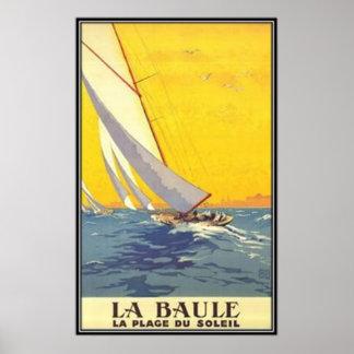 Pays de la Loire vintage, La Baule, France - Poster