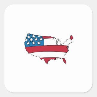 Pays des USA Autocollant