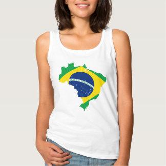 Pays du Brésil et débardeur des femmes de drapeau