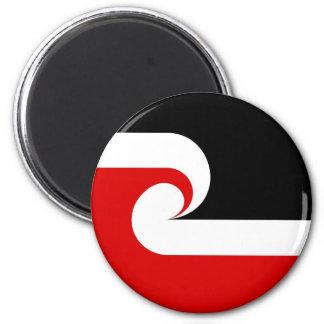 pays ethnique maori de la Nouvelle Zélande de drap Magnet Rond 8 Cm