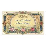 Pays français élégant vintage cartes de visite personnelles