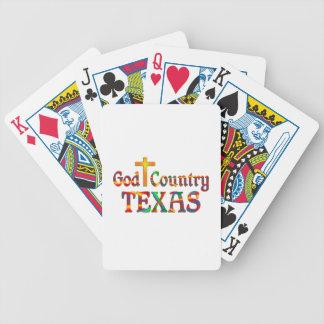 Pays le Texas de Dieu Jeu De Cartes