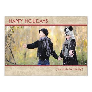 Pays moderne de carte plate de vacances de photo cartons d'invitation personnalisés