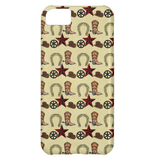Pays occidental sauvage de cowboy occidental sur coque iPhone 5C