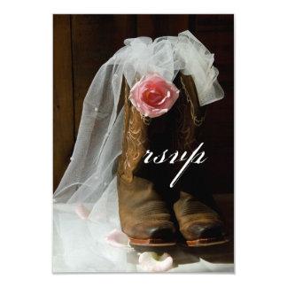 Pays rose et bottes de cowboy épousant la carte de