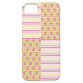 Pays vert rose Chevron et Checkered floral de n Coques Case-Mate iPhone 5
