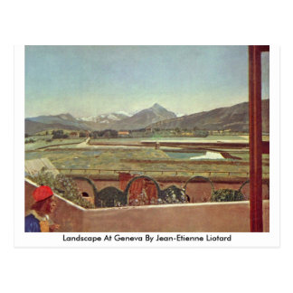 Paysage à Genève par Jean-Etienne Liotard Carte Postale