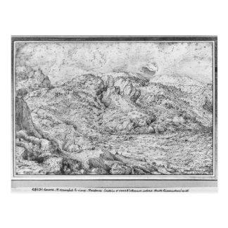 Paysage alpin, 1553 carte postale