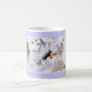 Paysage Amérindienne Ange papillons Mug