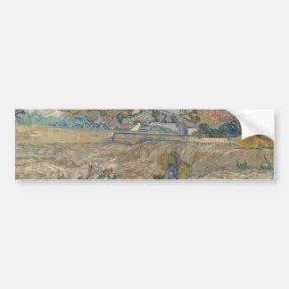 Paysage au Saint-Rémy ; Vincent van Gogh Autocollant De Voiture