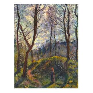 Paysage avec de grands arbres par Camille Pissarro Carte Postale