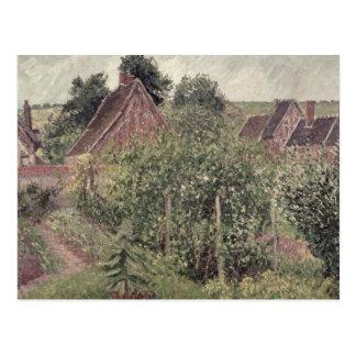 Paysage avec des toits de cottage, 1899 carte postale
