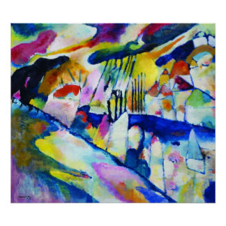 Paysage avec la pluie par Wassily Kandinsky Posters