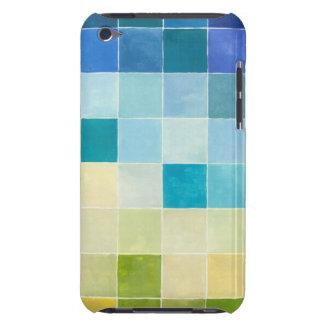 Paysage avec les carrés Pixilated multicolores Coque Case-Mate iPod Touch