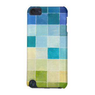 Paysage avec les carrés Pixilated multicolores Coque iPod Touch 5G