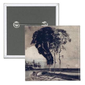 Paysage avec trois arbres, 1850 pin's