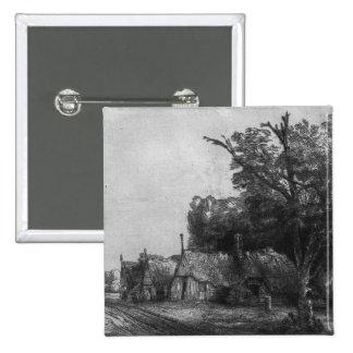 Paysage avec trois cottages, 1650 pin's