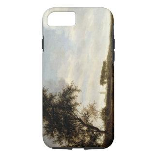 Paysage boisé (huile sur le panneau) coque iPhone 7