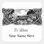 Paysage celtique de vignes sticker carré