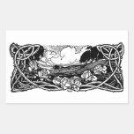 Paysage celtique de vignes sticker rectangulaire