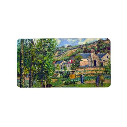 Paysage chez Pontoise par Camille Pissarro Étiquette D'adresse