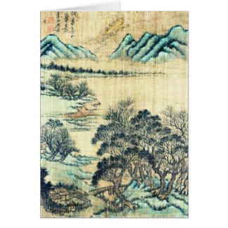 Paysage chinois 1730 carte de vœux