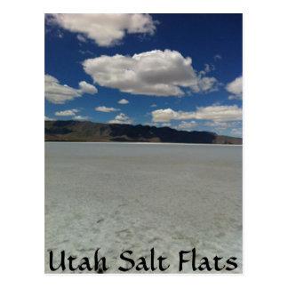 Paysage d'appartements de sel de l'Utah Carte Postale
