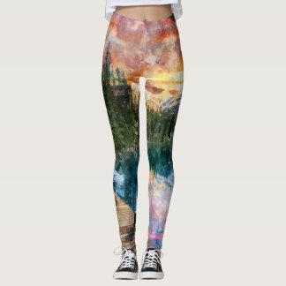 Paysage d'aquarelle leggings