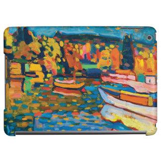 Paysage d'automne avec des bateaux par Wassily