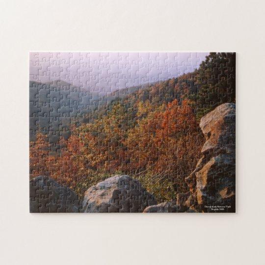 Paysage d'automne, parc national de Shenandoah Puzzle