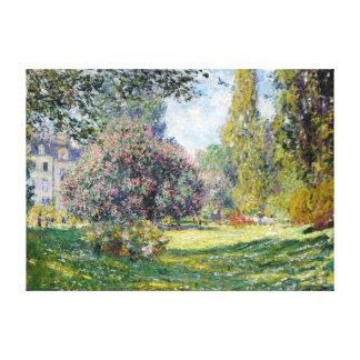 Paysage de Claude Monet : Le Parc Monceau Toiles