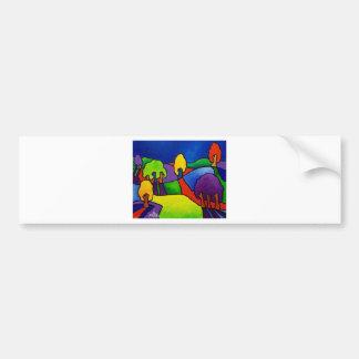 Paysage de couleur par Piliero Autocollant Pour Voiture