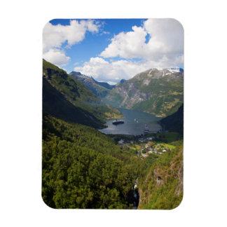 Paysage de fjord de Geiranger, Norvège Magnet Flexible