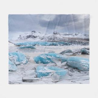 Paysage de glace de glacier, Islande Couverture Polaire