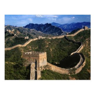 Paysage de Grande Muraille, Jinshanling, Chine Cartes Postales