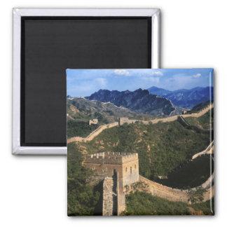 Paysage de Grande Muraille, Jinshanling, Chine Magnet Carré