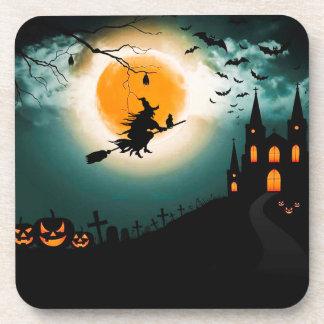 Paysage de Halloween Dessous-de-verre