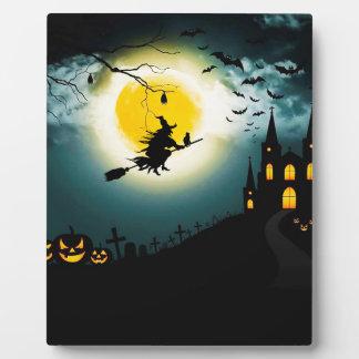 Paysage de Halloween Plaque Photo