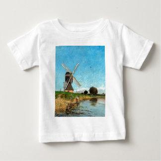 Paysage de Karl Skånberg avec le moulin à vent T-shirt Pour Bébé