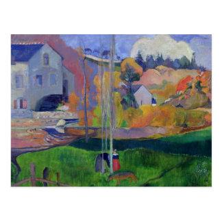 Paysage de la Bretagne : le moulin de David, 1894 Carte Postale