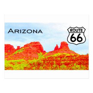 Paysage de l'itinéraire 66 de l'Arizona Carte Postale