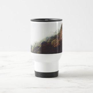 Paysage de nature d'aventure d'envie de voyager de mug de voyage