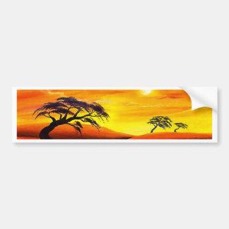 Paysage de paysage de coucher du soleil - multi autocollant pour voiture