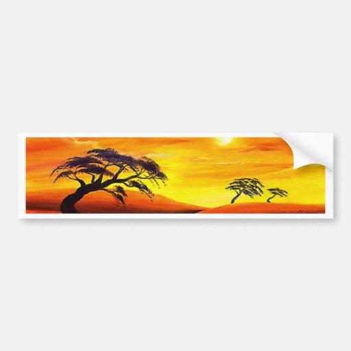 Paysage de paysage de coucher du soleil - multi adhésifs pour voiture